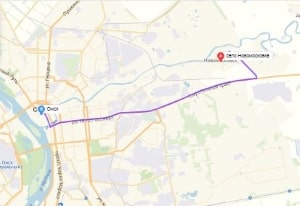 маршрут эвакуатора в омске: с. Новомосковка - г. Омск, буксир 24